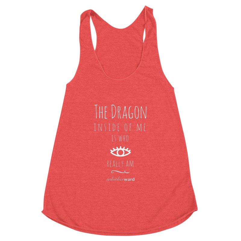 Dragon Lyrics - White Women's Tank by whitherward's Artist Shop