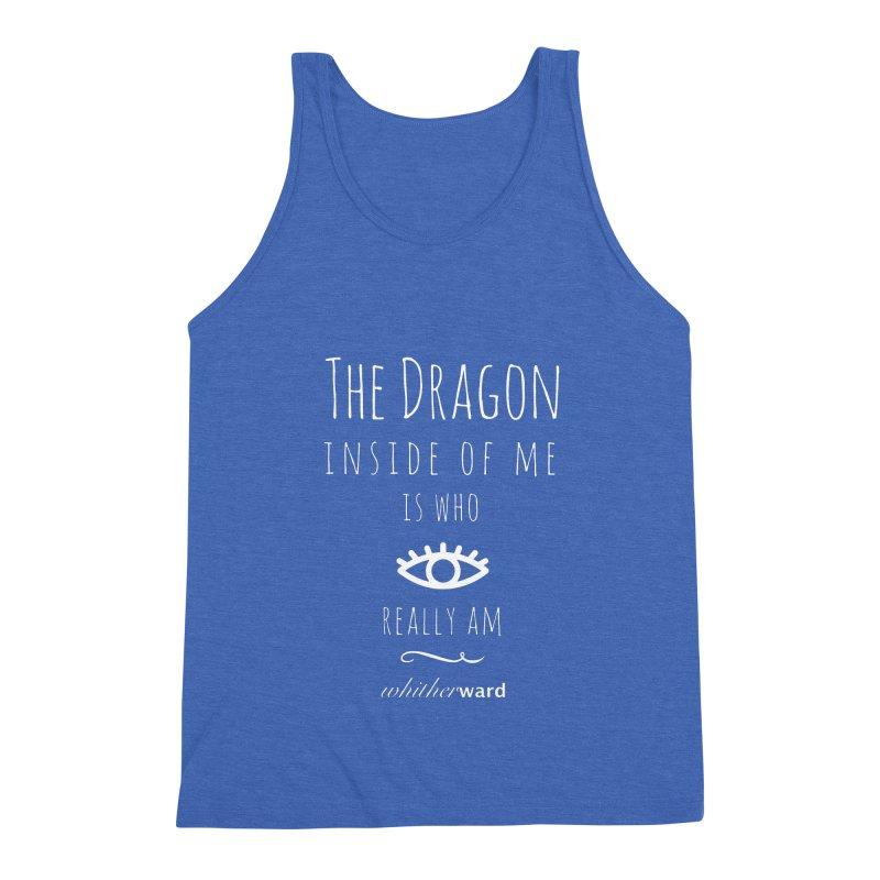 Dragon Lyrics - White Men's Triblend Tank by whitherward's Artist Shop