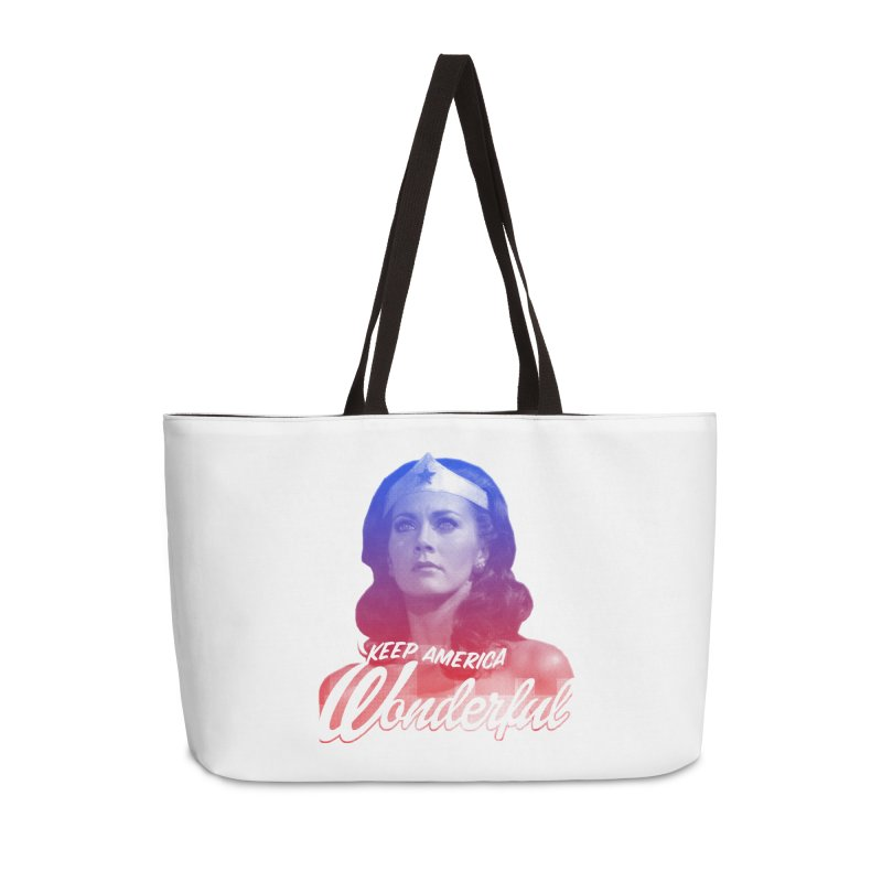 Keep America Wonderful Accessories Weekender Bag Bag by whoisrico's Artist Shop