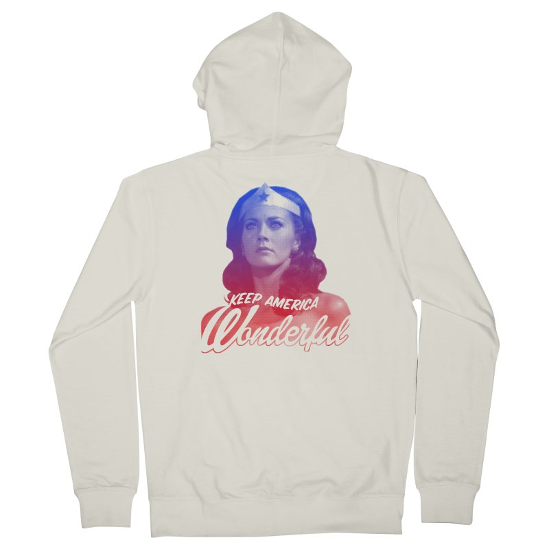 Keep America Wonderful Men's Zip-Up Hoody by whoisrico's Artist Shop
