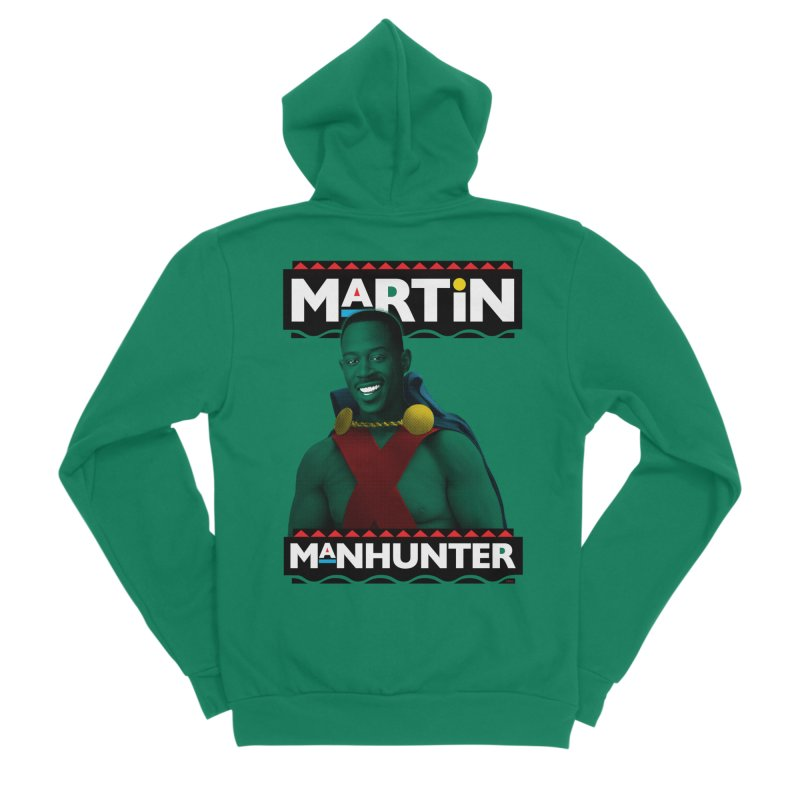 Martin Manhunter Men's Sponge Fleece Zip-Up Hoody by whoisrico's Artist Shop