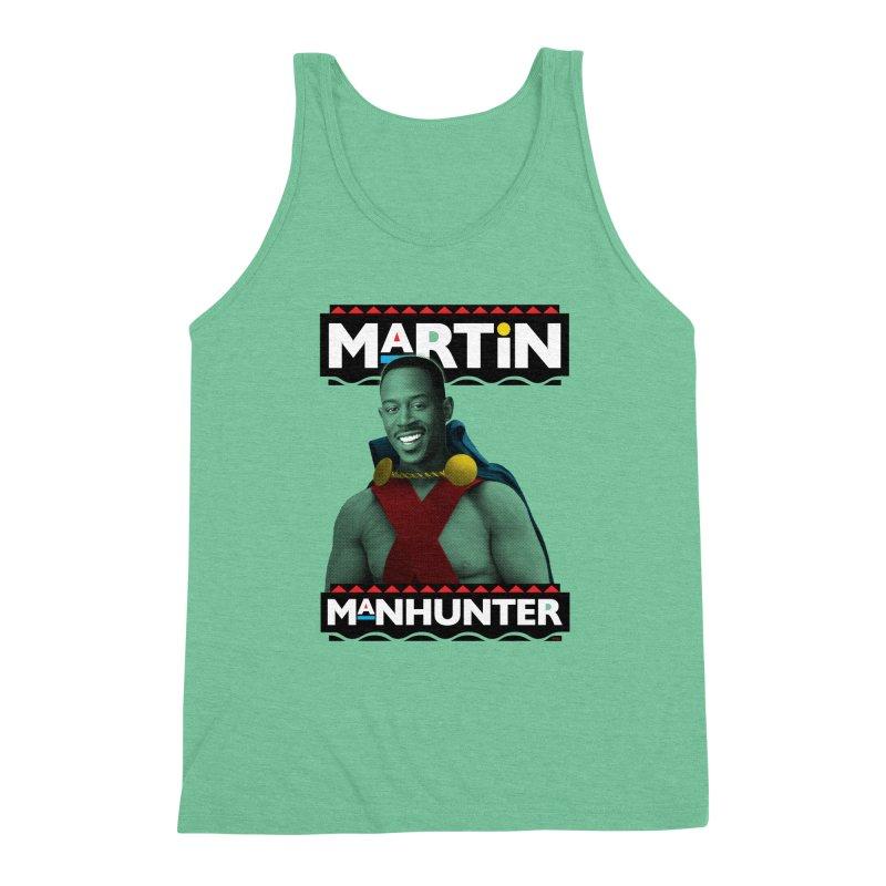 Martin Manhunter Men's Triblend Tank by whoisrico's Artist Shop