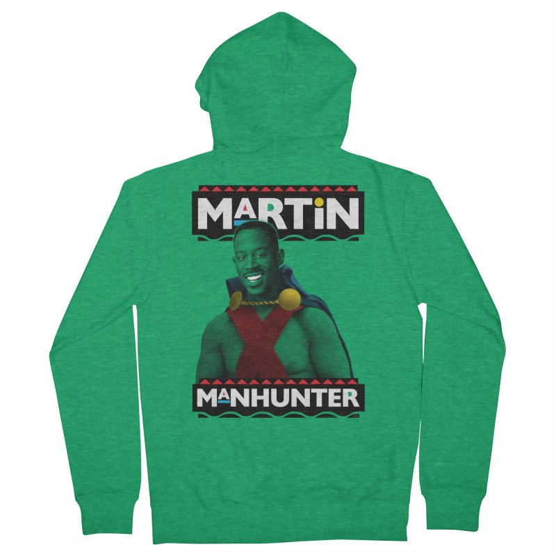 Martin Manhunter Women's French Terry Zip-Up Hoody by whoisrico's Artist Shop