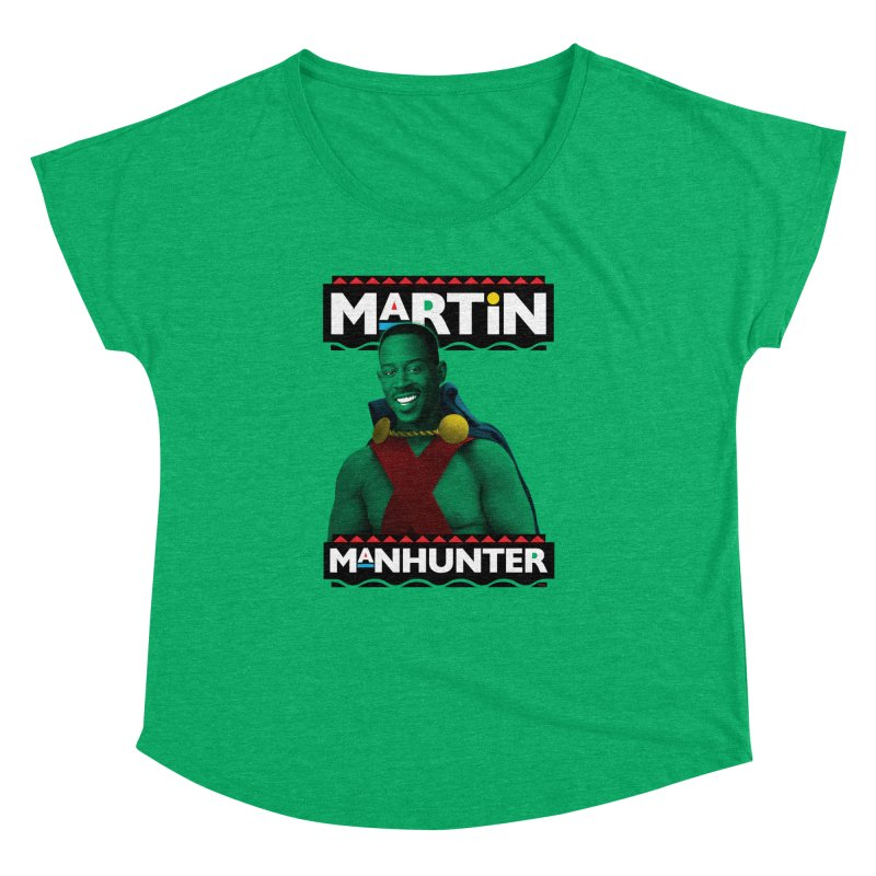 Martin Manhunter Women's Dolman Scoop Neck by whoisrico's Artist Shop