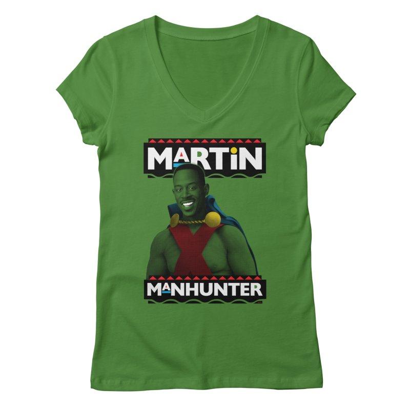 Martin Manhunter Women's Regular V-Neck by whoisrico's Artist Shop