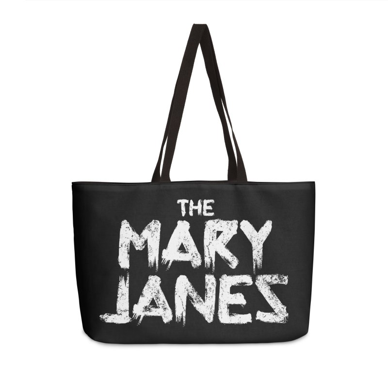 MJs Tour Tee Distressed Accessories Weekender Bag Bag by whoisrico's Artist Shop