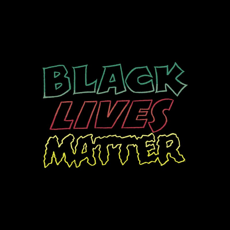 Black Lives Matter [comic book lettering] Home Stretched Canvas by whoisrico's Artist Shop
