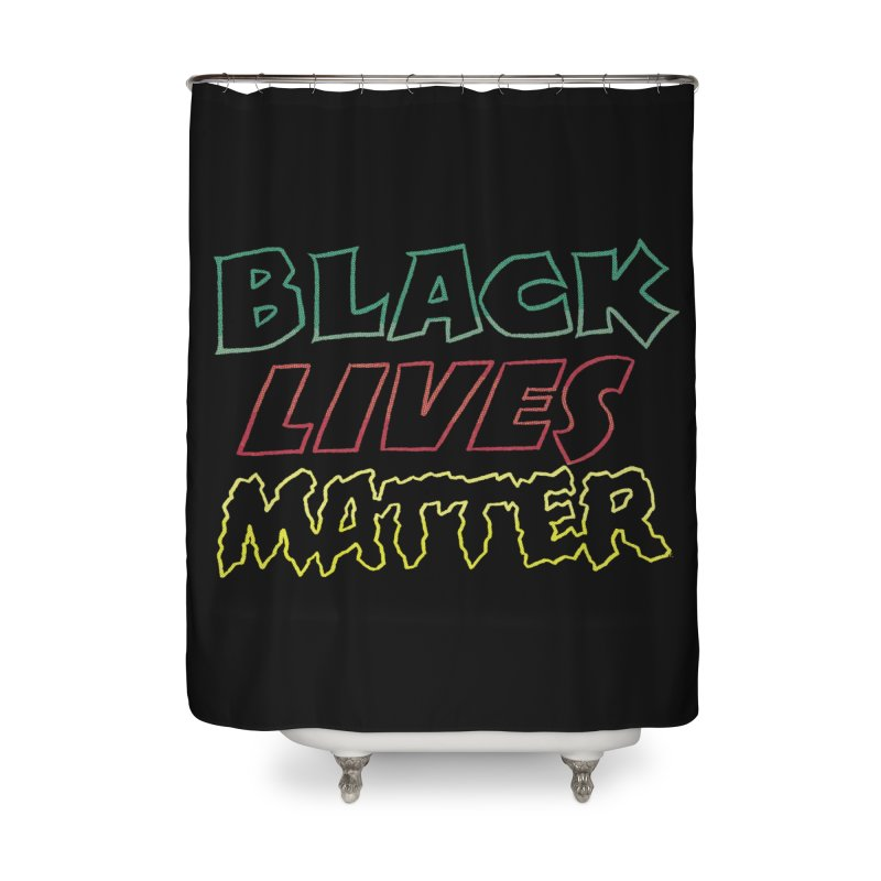 Black Lives Matter [comic book lettering] Home Shower Curtain by whoisrico's Artist Shop