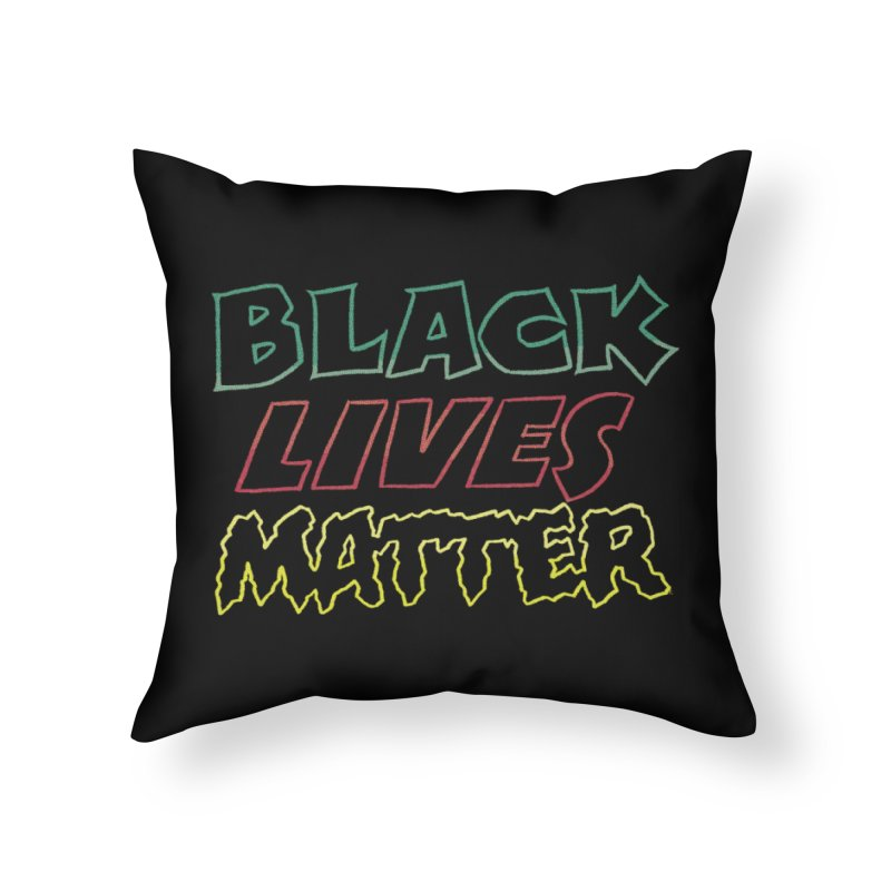 Black Lives Matter [comic book lettering] Home Throw Pillow by whoisrico's Artist Shop