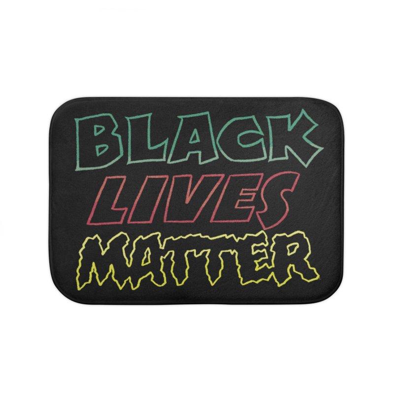 Black Lives Matter [comic book lettering] Home Bath Mat by whoisrico's Artist Shop