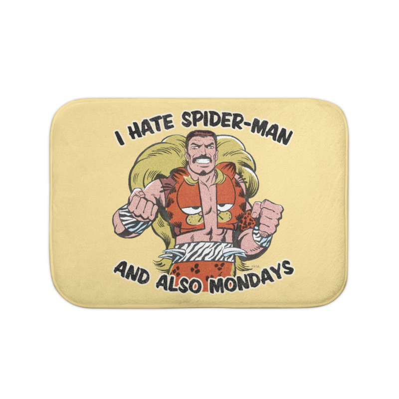 I Hate Spider-Man and also Mondays Home Bath Mat by whoisrico's Artist Shop