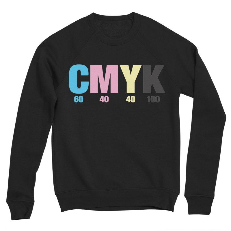 Rich Black (CMYK formula) Men's Sweatshirt by whoisrico's Artist Shop