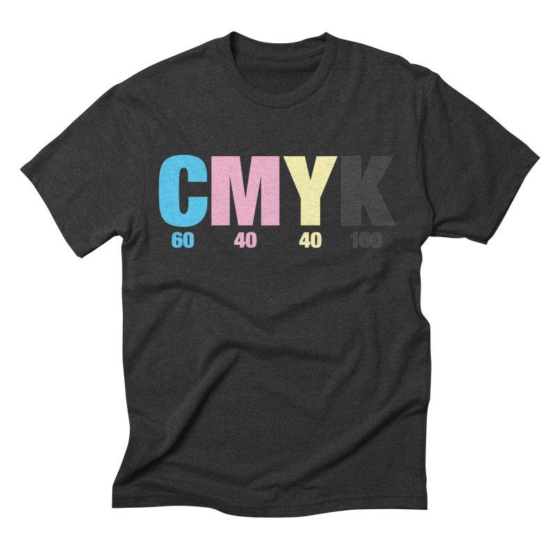 Rich Black (CMYK formula) Men's T-Shirt by whoisrico's Artist Shop