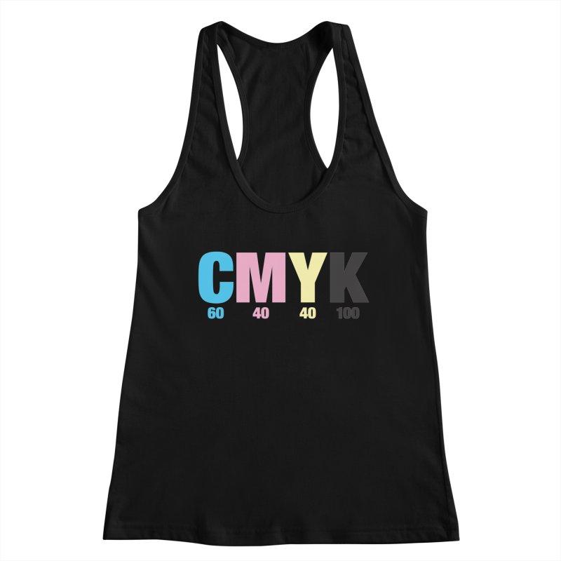 Rich Black (CMYK formula) Women's Tank by whoisrico's Artist Shop
