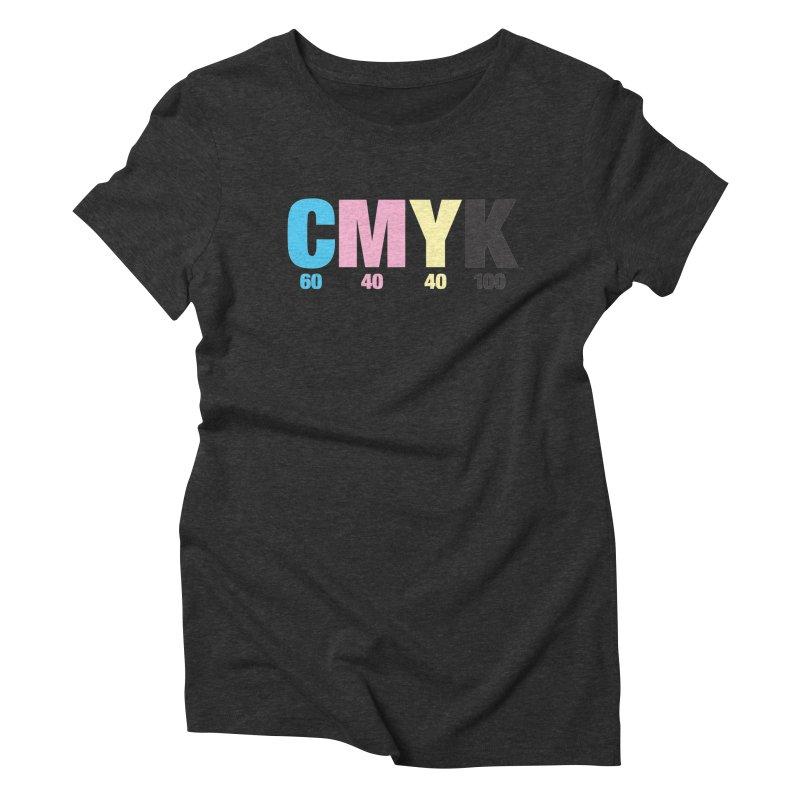 Rich Black (CMYK formula) Women's T-Shirt by whoisrico's Artist Shop
