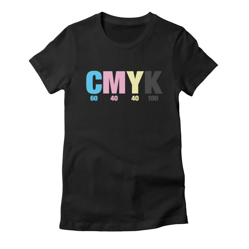 Rich Black (CMYK formula) Women's T-Shirt by whoisrico's Artist Shop