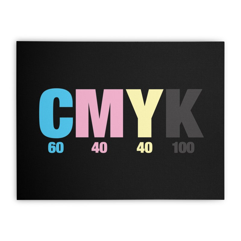 Rich Black (CMYK formula) Home Stretched Canvas by whoisrico's Artist Shop