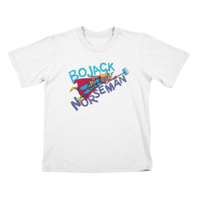 Bojack Norseman Kids T-Shirt by whoisrico's Artist Shop