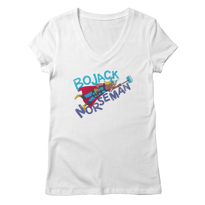 Bojack Norseman Women's V-Neck by whoisrico's Artist Shop