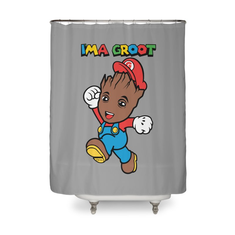 I'MAGROOT Home Shower Curtain by whoisrico's Artist Shop