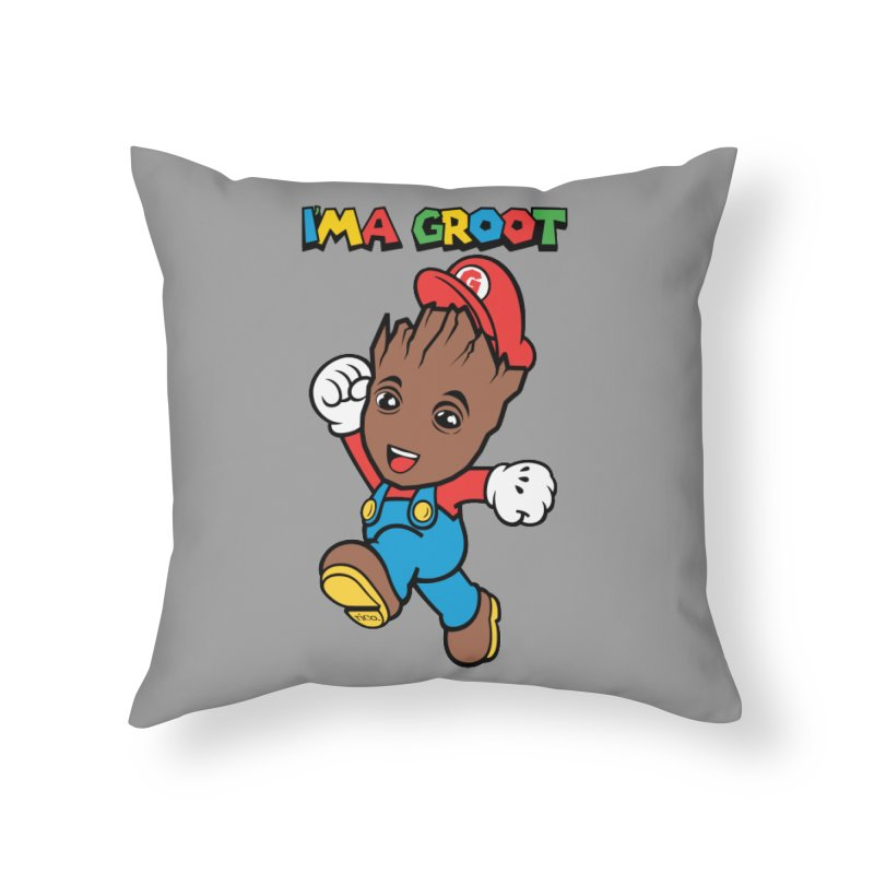 I'MAGROOT Home Throw Pillow by whoisrico's Artist Shop