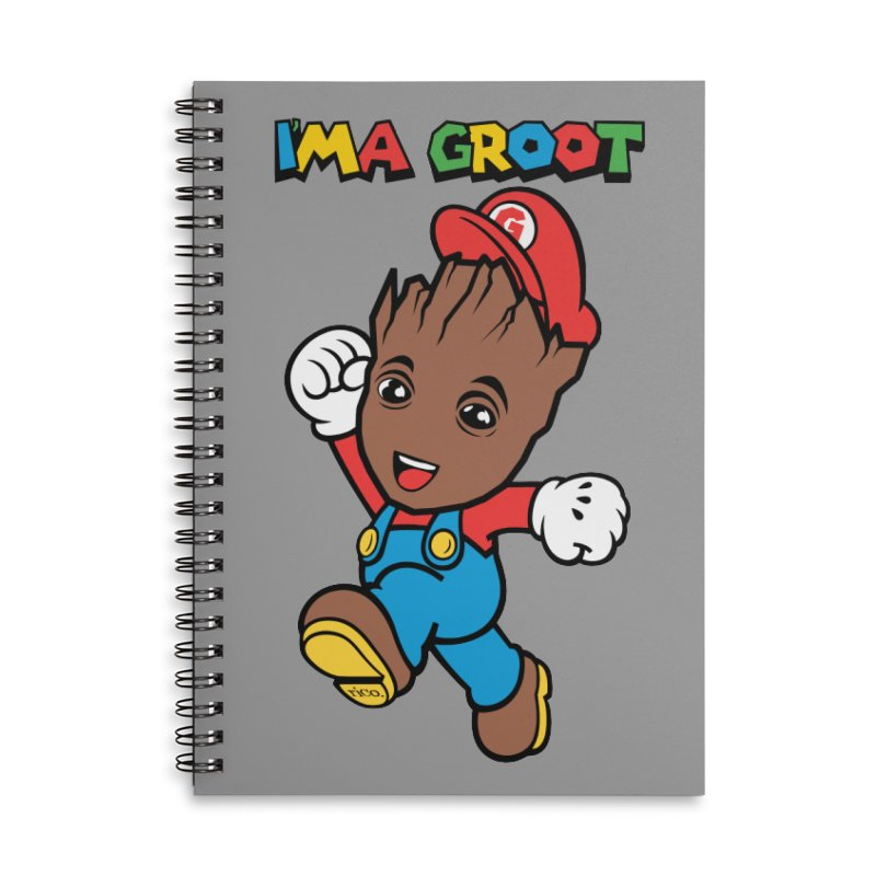 I'MAGROOT Accessories Notebook by whoisrico's Artist Shop