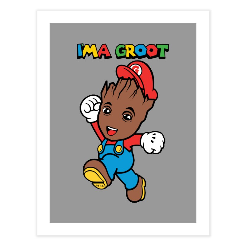 I'MAGROOT Home Fine Art Print by whoisrico's Artist Shop