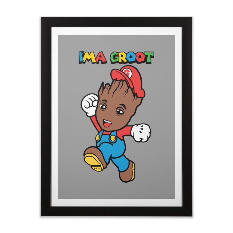 I'MAGROOT Home Framed Fine Art Print by whoisrico's Artist Shop