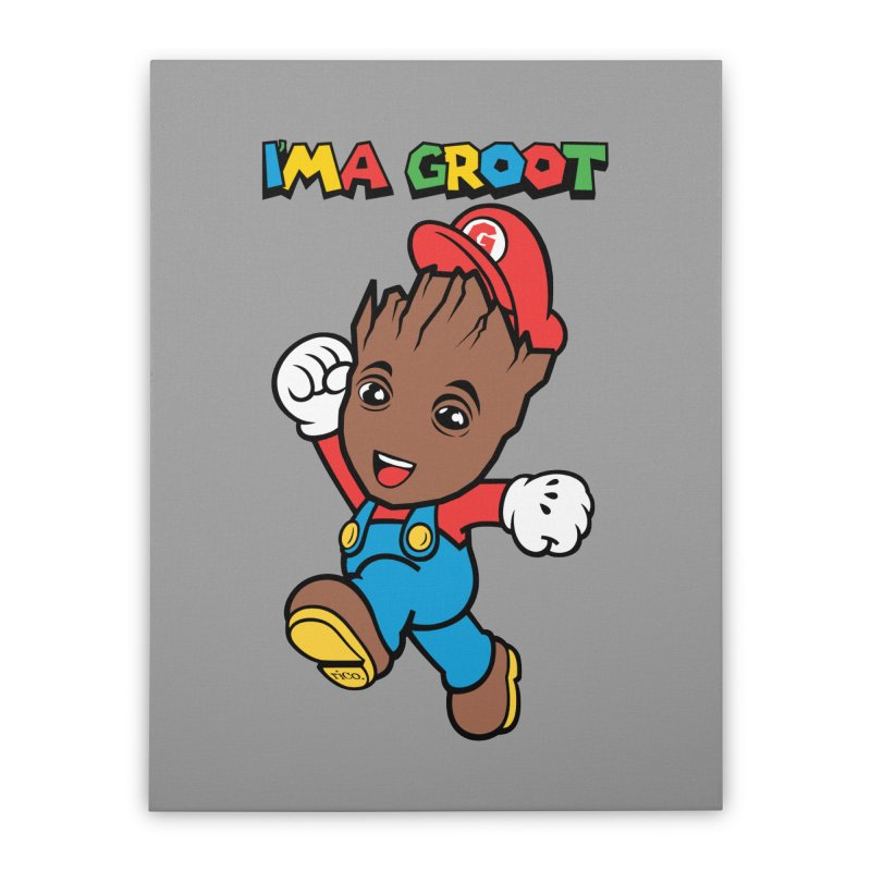 I'MAGROOT Home Stretched Canvas by whoisrico's Artist Shop