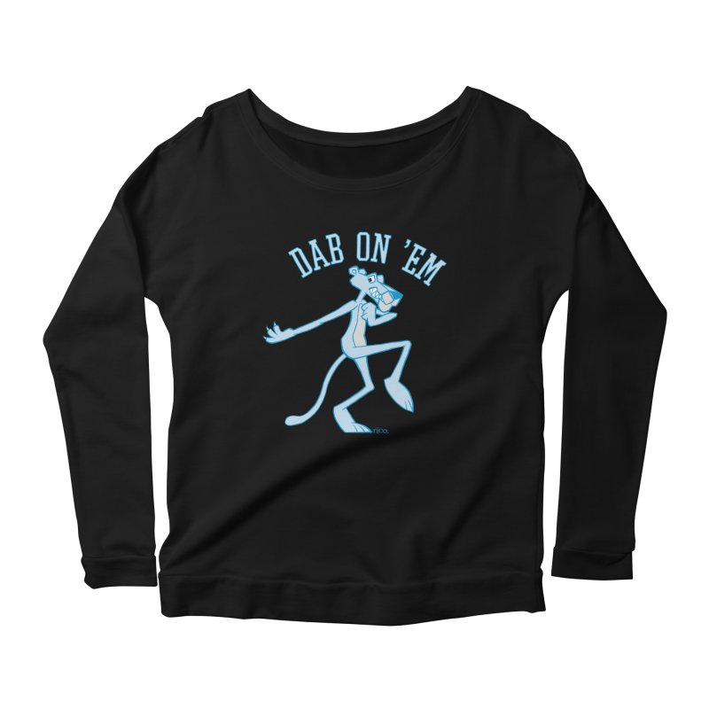 Dab On 'Em Women's Longsleeve Scoopneck  by whoisrico's Artist Shop