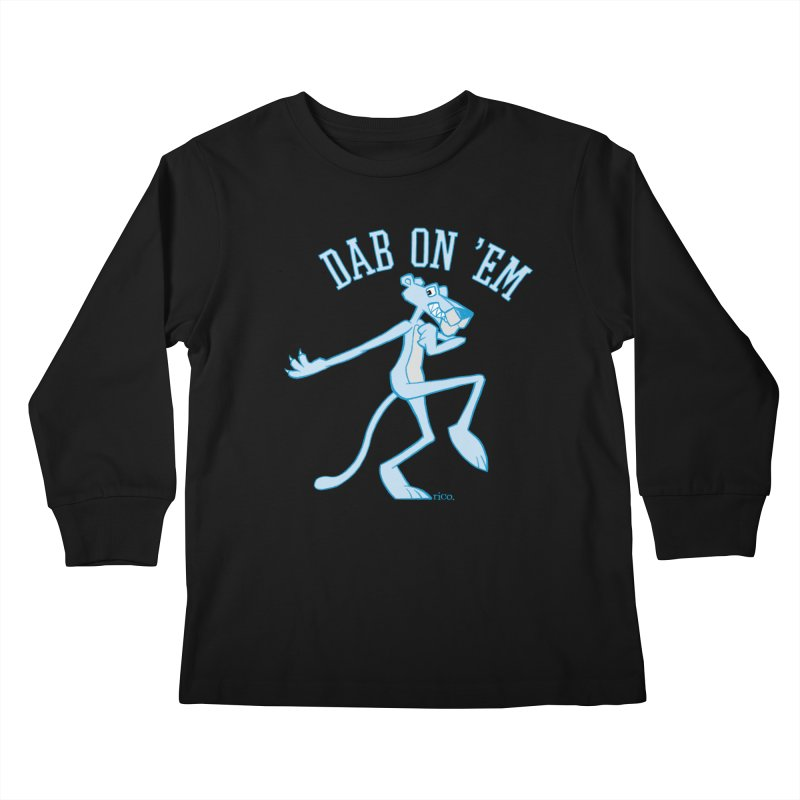 Dab On 'Em Kids Longsleeve T-Shirt by whoisrico's Artist Shop