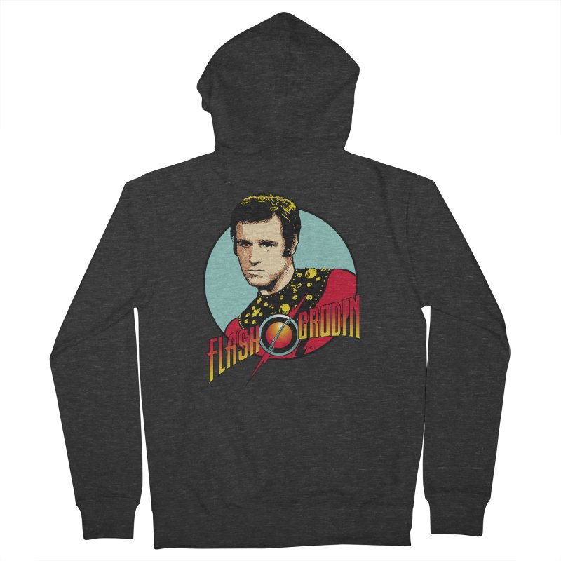 Flash Grodin Men's Zip-Up Hoody by whoisrico's Artist Shop