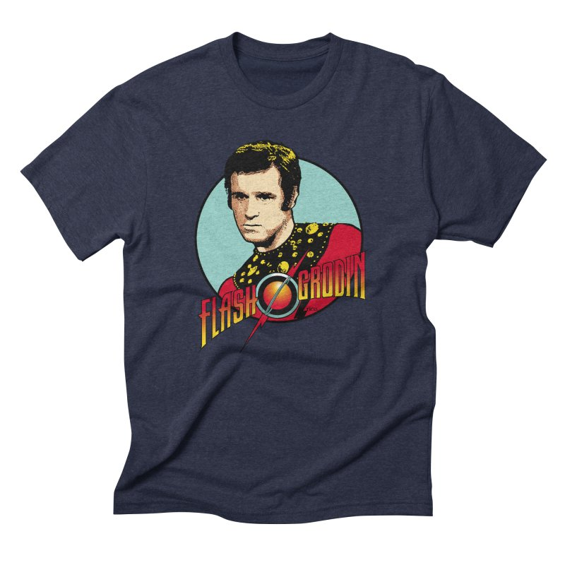 Flash Grodin in Men's Triblend T-Shirt Navy by whoisrico's Artist Shop