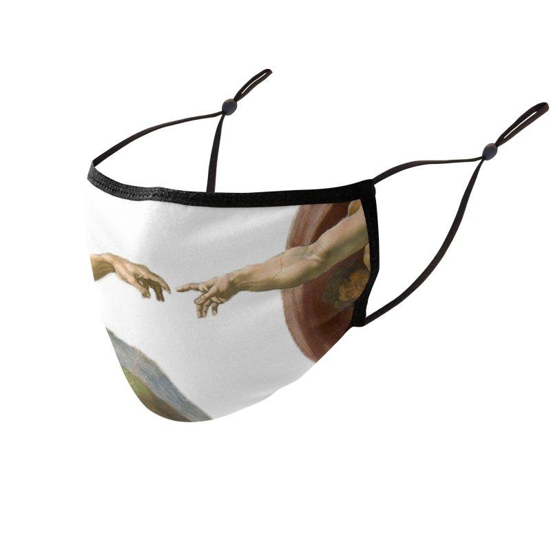 Creazione di Adamo (Close Up) Accessories Face Mask by Westchester Italian Cultural Center's Shop
