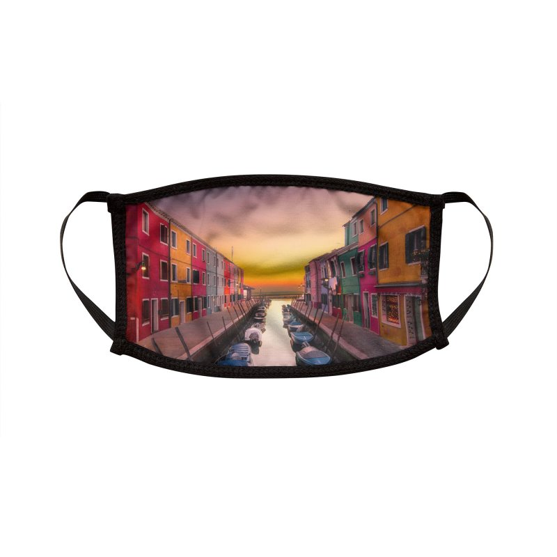 Burano Accessories Face Mask by Westchester Italian Cultural Center's Shop