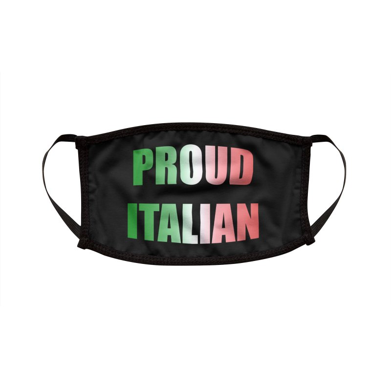 Proud Italian (Gradient) Accessories Face Mask by Westchester Italian Cultural Center's Shop