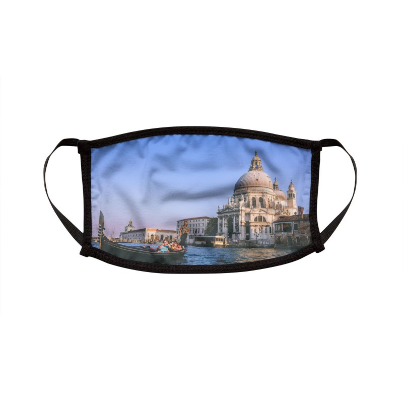 Venice Sunset Accessories Face Mask by Westchester Italian Cultural Center's Shop