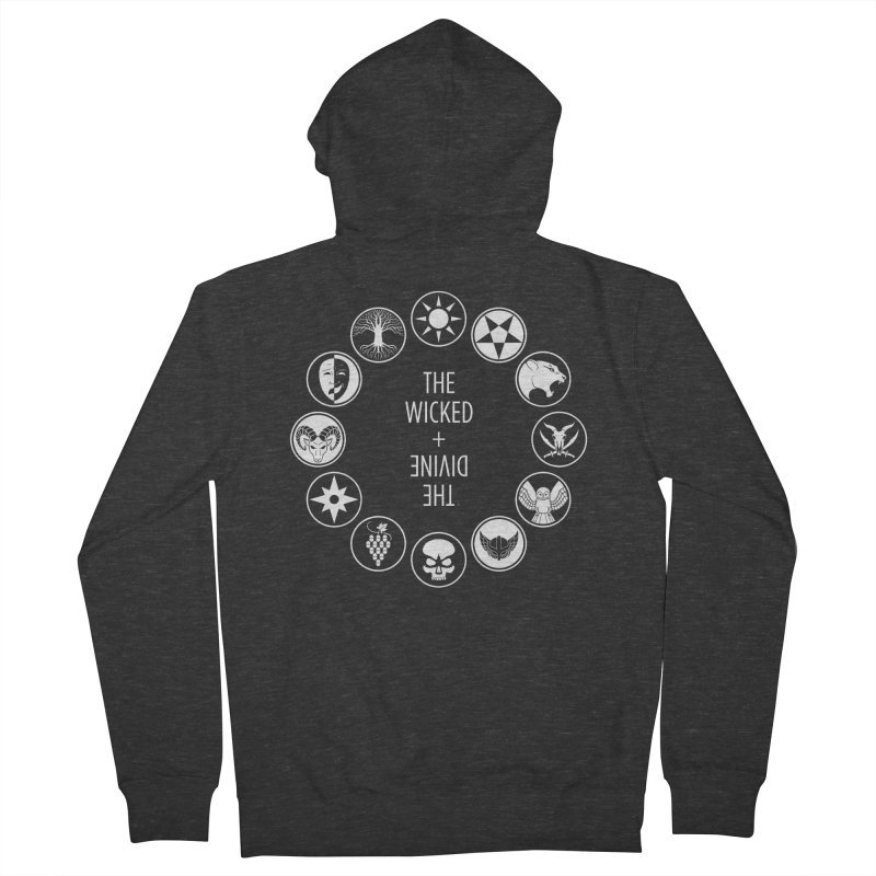 Pantheon Icons Men's French Terry Zip-Up Hoody by The Wicked + The Divine