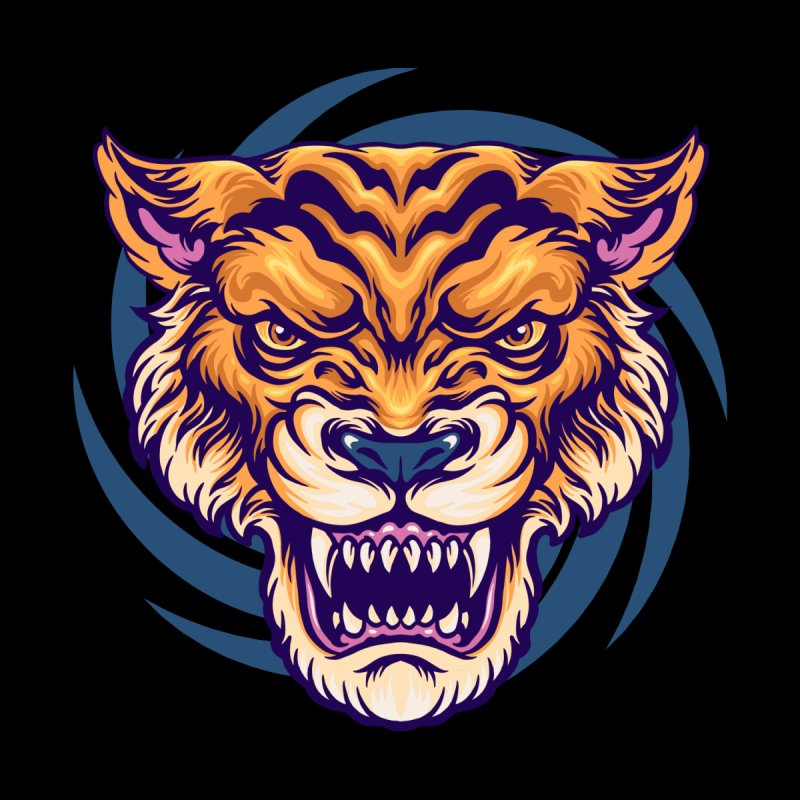 Angry Tiger Men's T-Shirt by Wicked Clobber