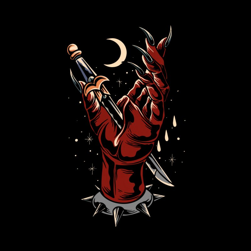 Devil's Hand Men's T-Shirt by Wicked Clobber