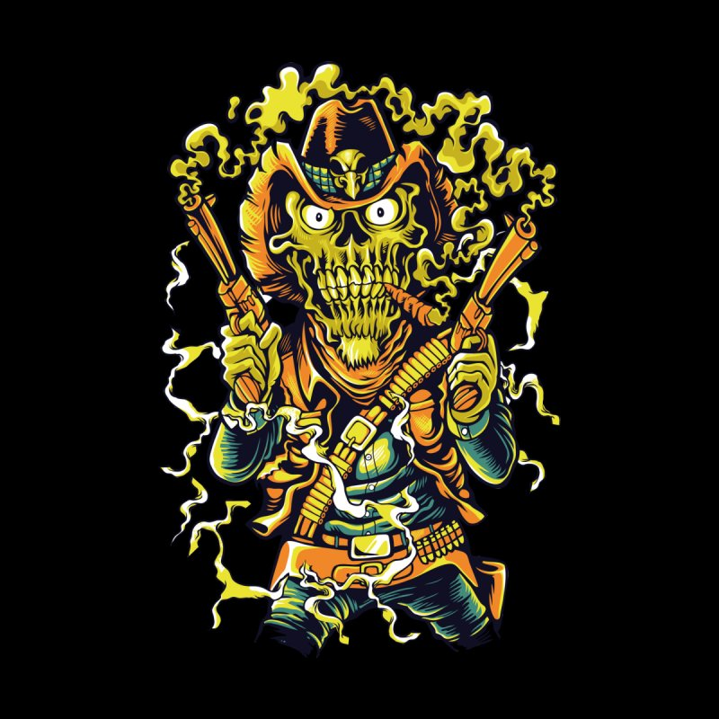 Western Terror Men's T-Shirt by Wicked Clobber