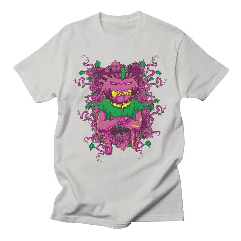 Pumpkin Horror Men's T-Shirt by Wicked Clobber