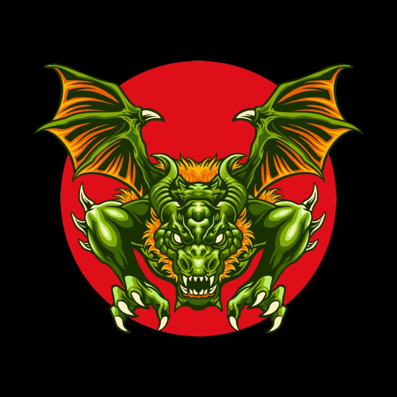 Dragon Attack Men's T-Shirt by Wicked Clobber