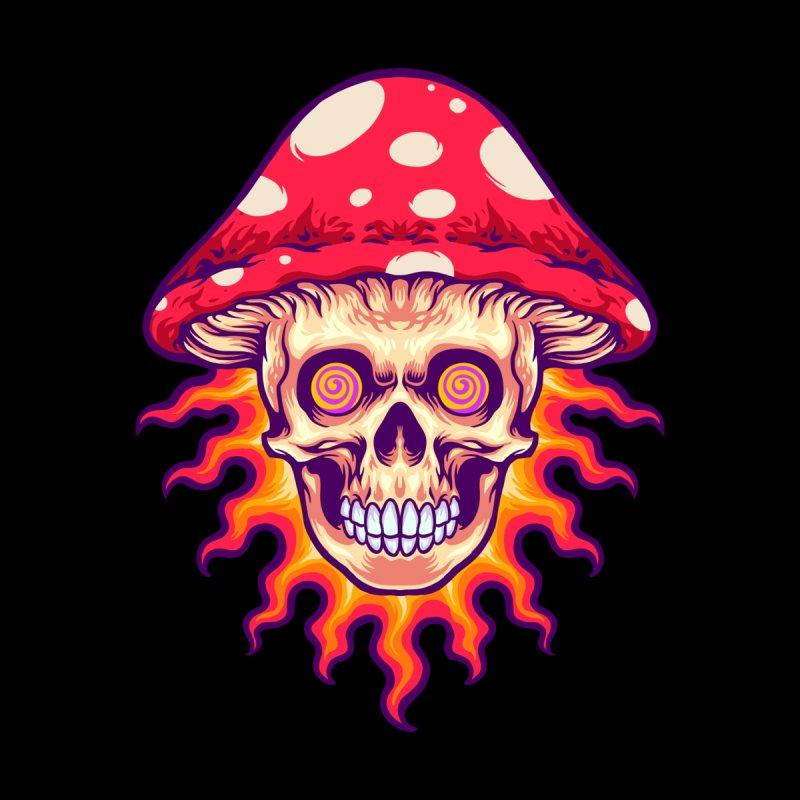 Trippy Mushroom Skull Men's T-Shirt by Wicked Clobber