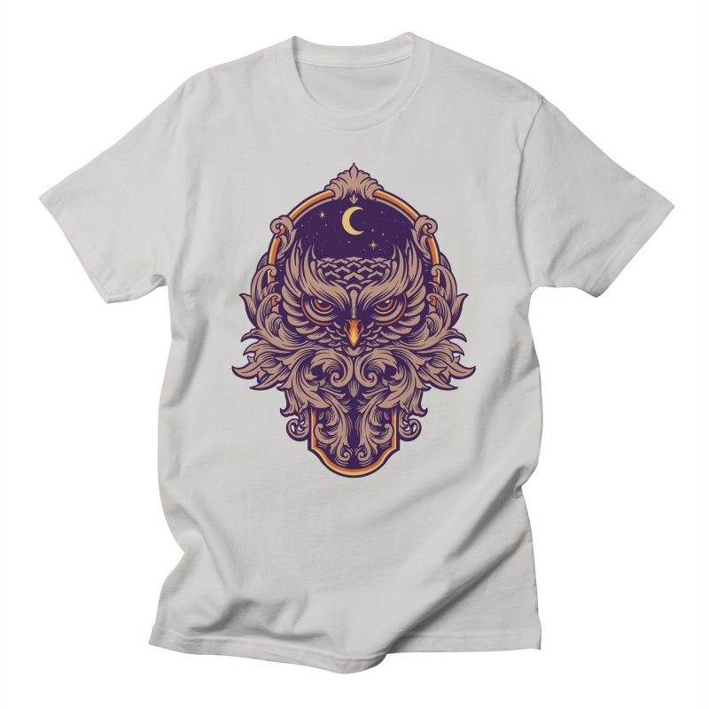 Ornamental Owl Men's T-Shirt by Wicked Clobber