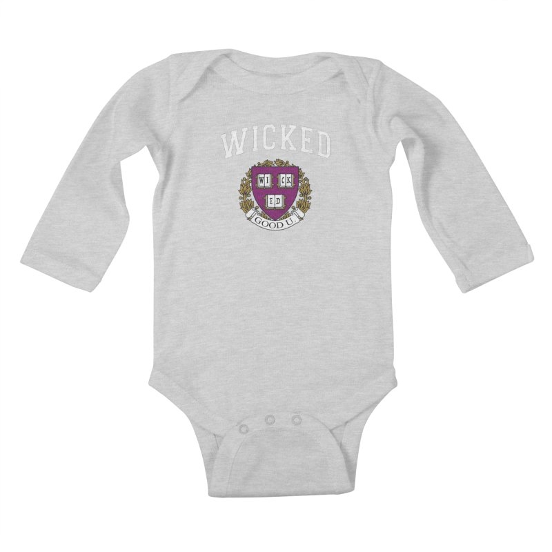 Wicked Smart Kids Baby Longsleeve Bodysuit by The Wicked Good Gaming Shop