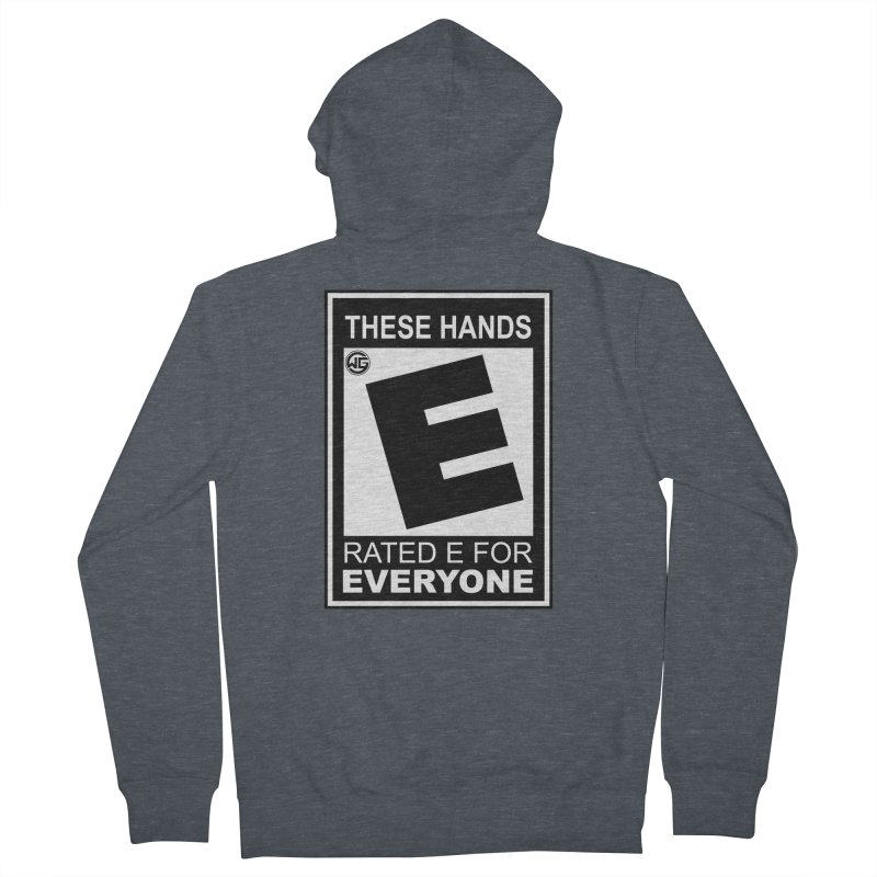 Catch These Hands Men's French Terry Zip-Up Hoody by The Wicked Good Gaming Shop