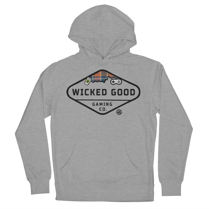 Wicked Basic Men's French Terry Pullover Hoody by The Wicked Good Gaming Shop