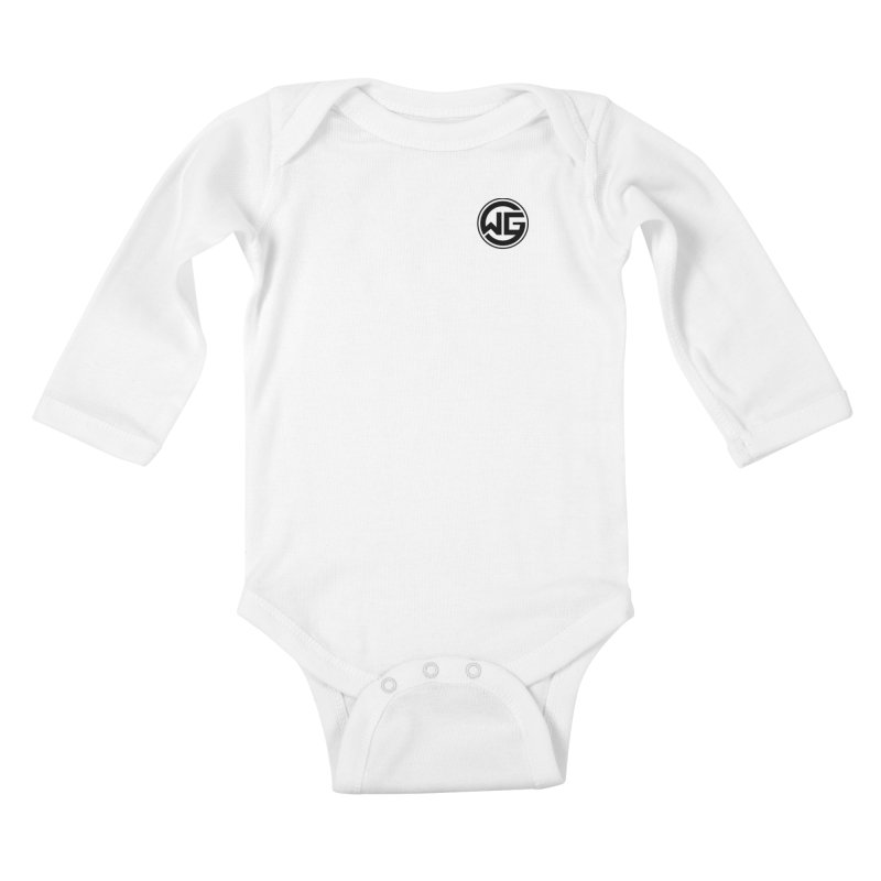 WGG (Black) Kids Baby Longsleeve Bodysuit by The Wicked Good Gaming Shop