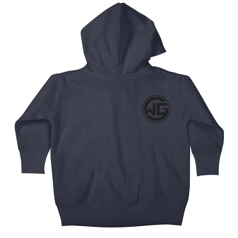 WGG (Black) Kids Baby Zip-Up Hoody by The Wicked Good Gaming Shop